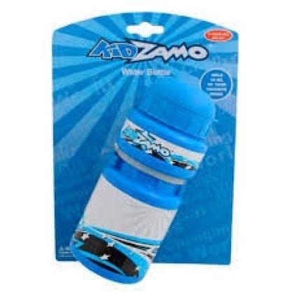 Garrafa 300ml Plast. C/Suporte Azul Kid Zamo