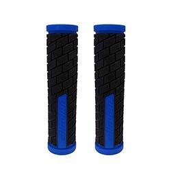 Manopla MTB c/logo 130mm preto/azul Elleven Cód. 13511