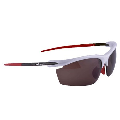 Óculos ciclist Blade branco/vermelho Elleven Cód. 12521