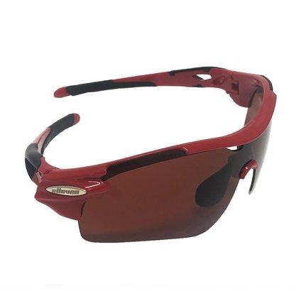 Óculos ciclista verm/preto Elleven Cód. 12998